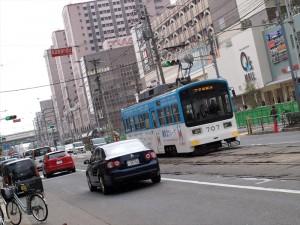 阪堺電車 天王寺付近