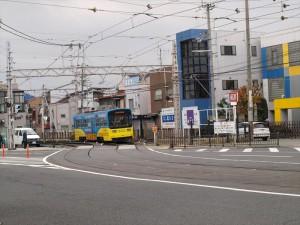 阪堺電車 阿倍野駅付近