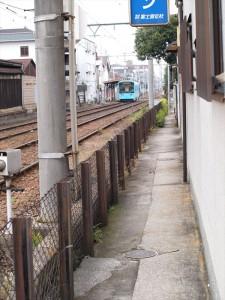 阪堺電車 松虫駅付近