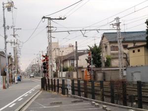 阪堺電車線路沿い 合流ポイント