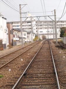阪堺電車 帝塚山四丁目駅付近