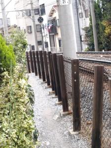 阪堺電車線路沿いのエクストリームスタンドバイミーポイント