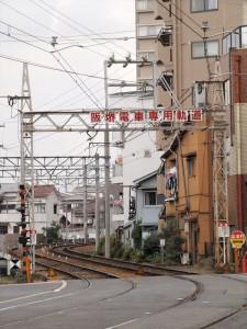 阪堺電車 住吉鳥居前駅付近