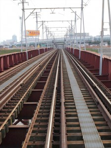 阪堺電車 大和川の鉄橋