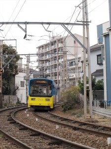 阪堺電車 高須神社駅付近