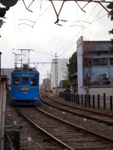 阪堺電車 御陵前駅付近