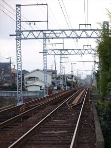 阪堺電車 石津駅付近の鉄橋1