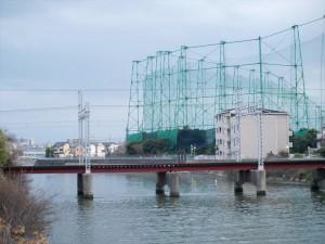 阪堺電車 石津駅付近の鉄橋2