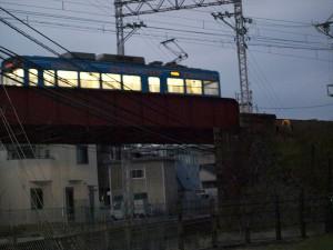 阪堺電車 船尾駅付近
