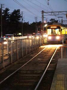 阪堺電車 浜寺駅前駅 帰りの電車